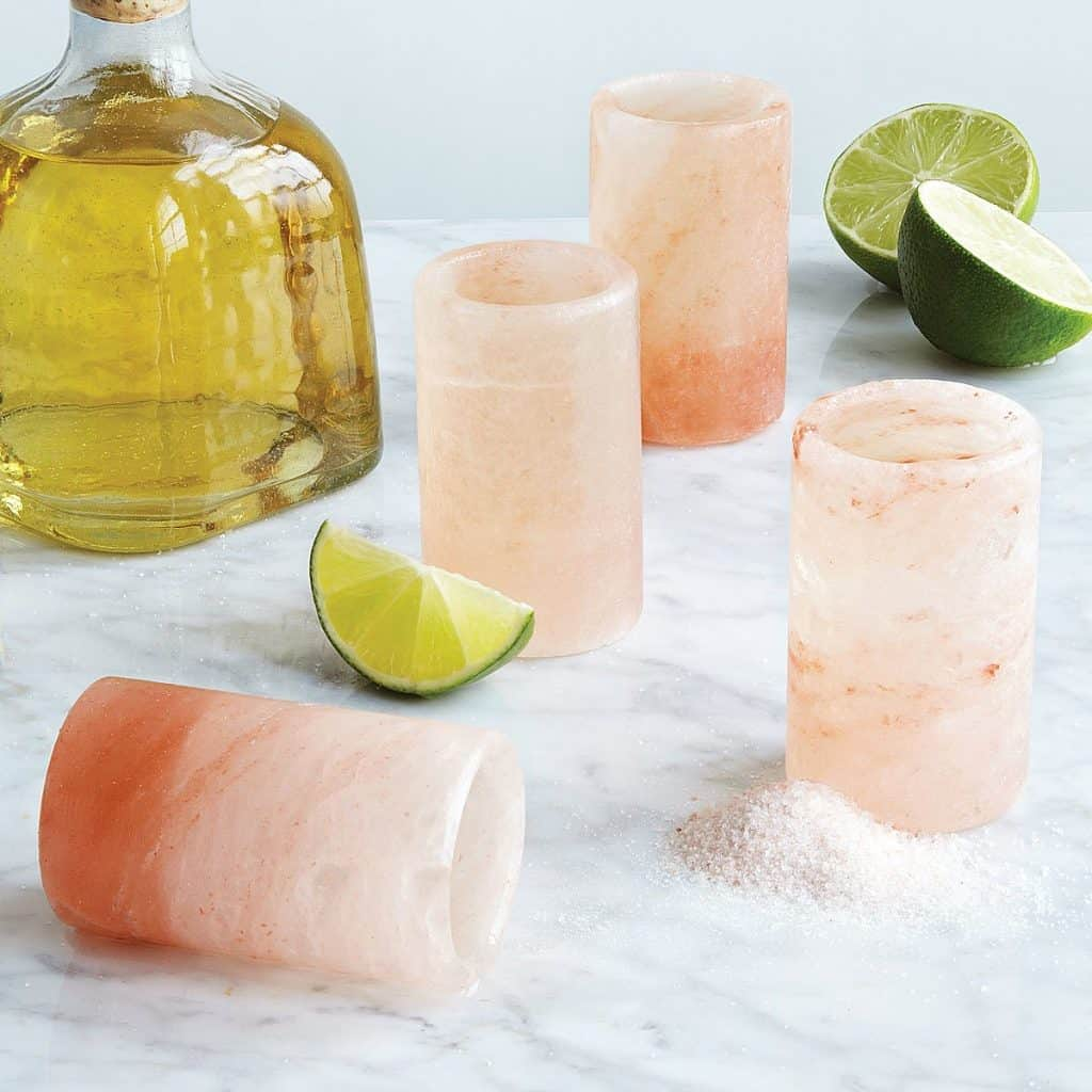Pink Himalayan Salt Shot Glasses