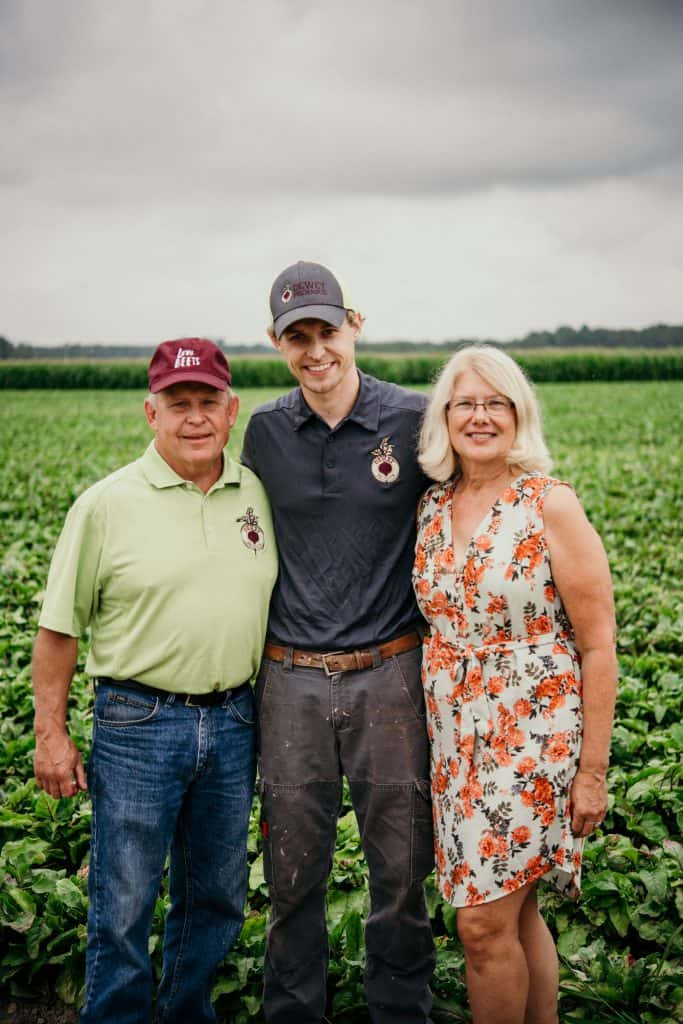 Love Beets farmers at their farm in New York