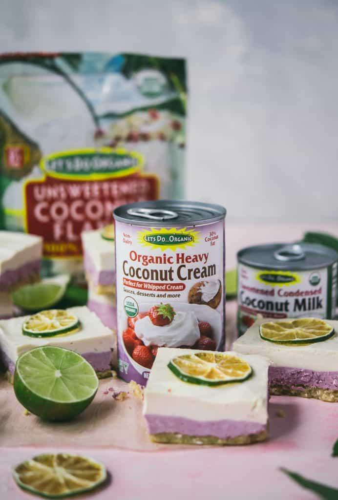 Coconut Lime & Raspberry Cheesecake Bars (Vegan) | Crowded