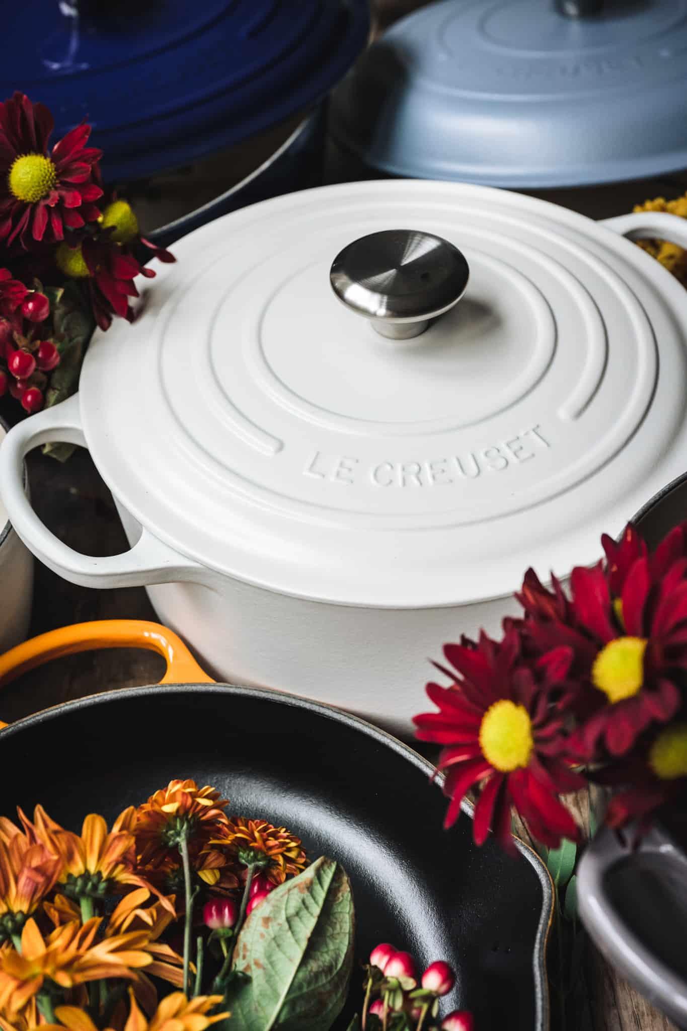 Side view of beautiful matte white pot