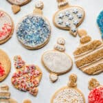 Assortment of sugar cookies from above.