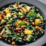 Kale and Cauliflower salad seen from above.