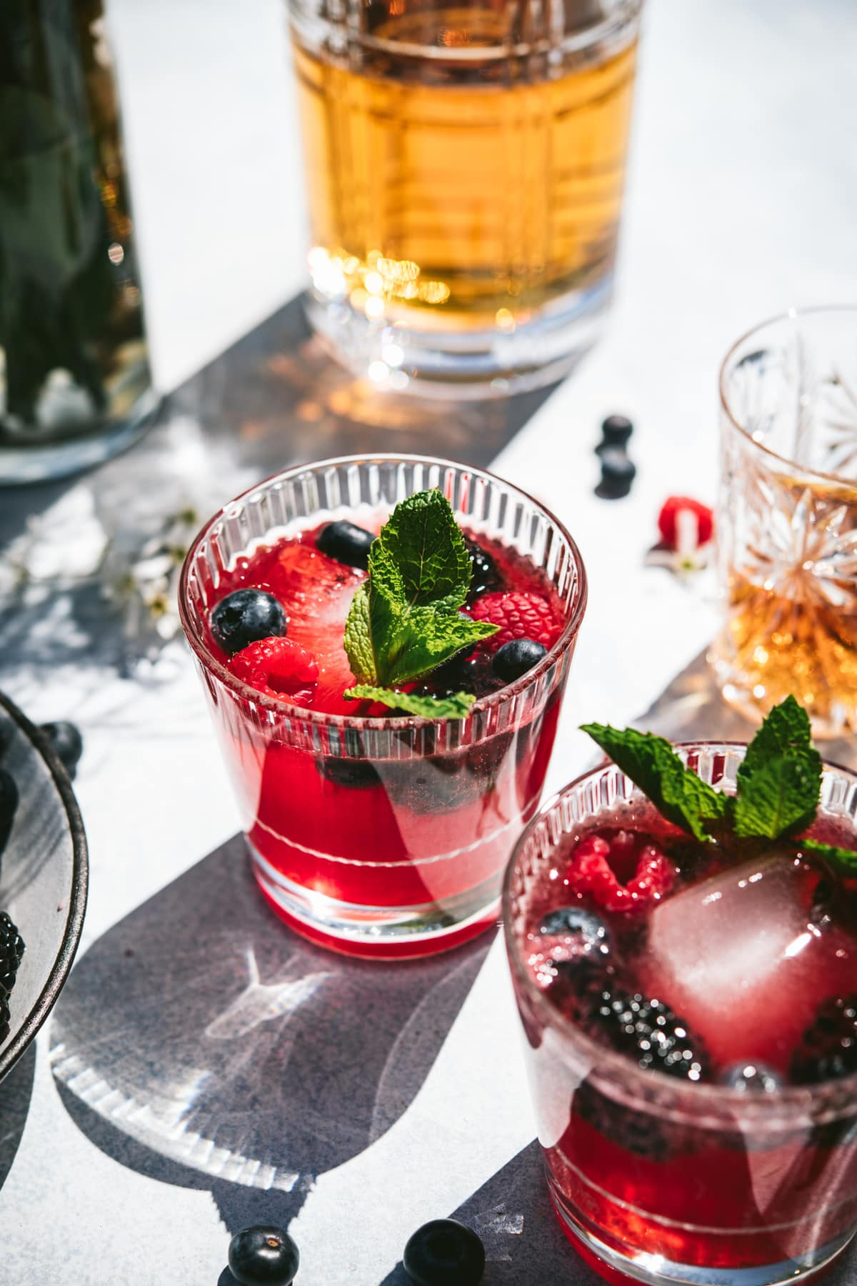 Berry Bourbon Lemonade Pitcher Cocktail | Crowded Kitchen
