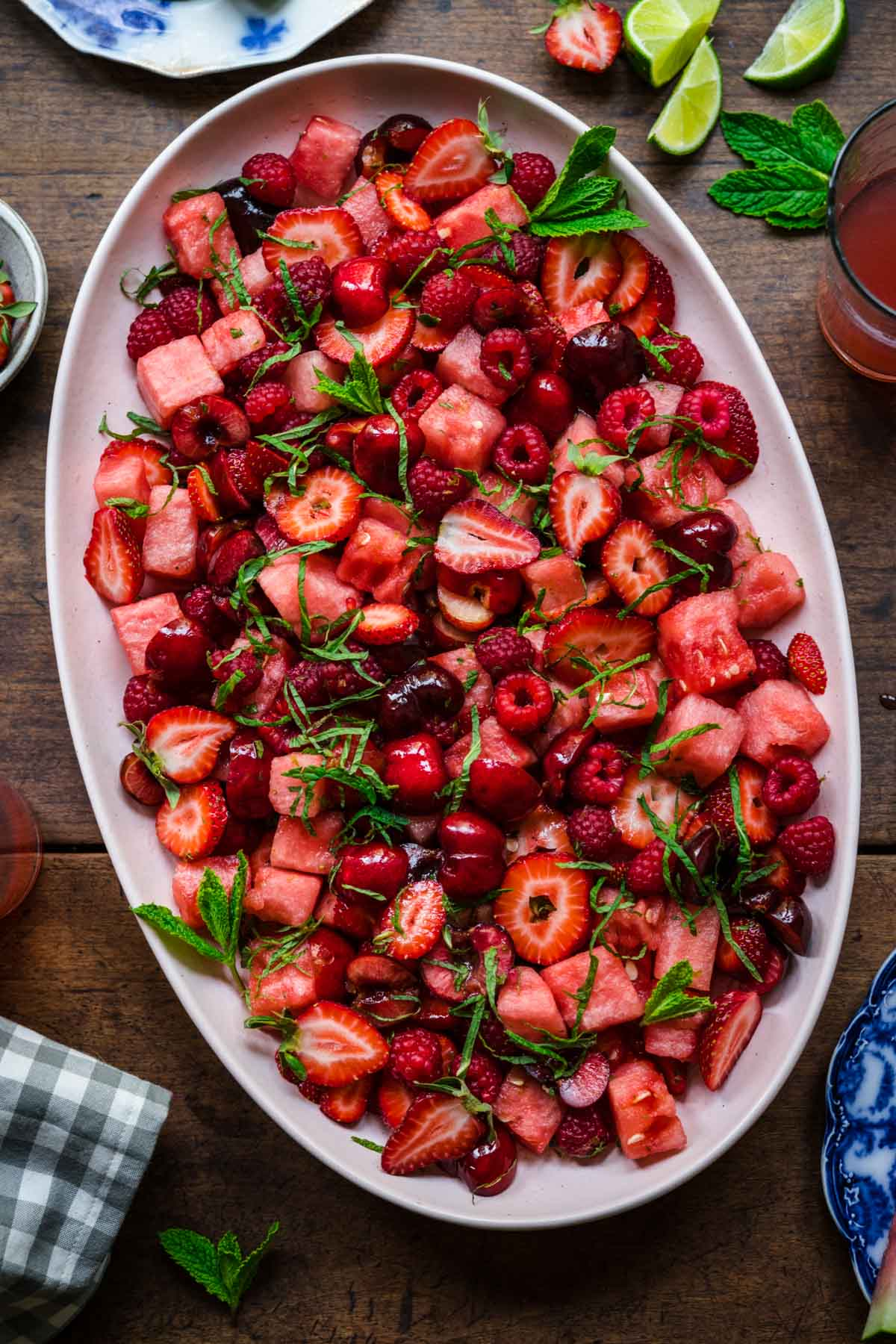 Watermelon Fruit Salad with Berries